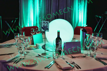 High quality led light table centrepieces wedding decoration with multi-color light
