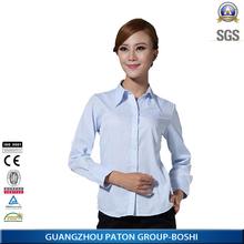 Mulheres projetos da camisa 100% algodão