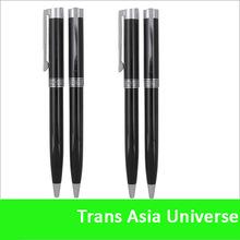 Top quality custom black metal twist ballpoint pen