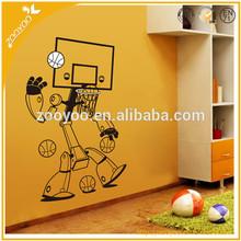 zooyoo vinyl wall decal child wall sticker nursery wallpaper home decor wall art machine basketball