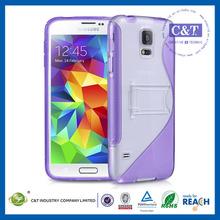 Durable design colorful tpu pc case bumper for galaxy s5