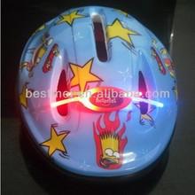 Led bicycle helmet red light