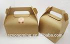 China OEM kraft paper cake box with handle cake packing box