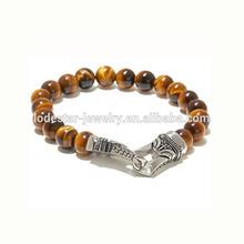 8mm or 10mm tiger-eye beads expandable jewelry bracelets elastic bracelet for girls elastic stainless steel bracelet LB3062-1