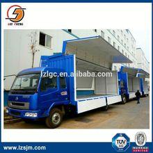Truck body long stroke one cylinder hydraulic lift