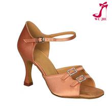 Tan color elegant shoes for ladies latin dance shoes