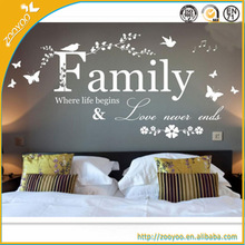 Wall Decorative decal removable vinyl home wall sticker/wall decal family where life begins
