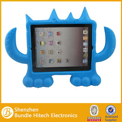 Eco-friendly silicon cover for ipad, monster design eva foam case for kids super light weight