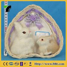 fashion cartoon zoon furry animal for rabbits plastic small toy dolls