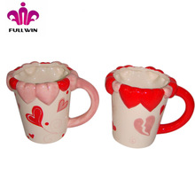 Red and pink mixed V-Day color changing mug