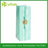 High quality paper custom elegant luxury wine gift bag