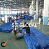 china high quality blue color 180gsm virgin pe woven waterproof laminated tarpaulins fabric roll with uv factory