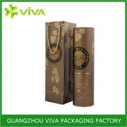 Fancy christmas gift paper wine bottle paper gift bag