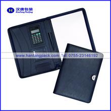 A4 Zipper Portfolio PU Leather Portfolio Mutifuction Portfolio with High Quality For Career Fair Promotion Career Fair Gift
