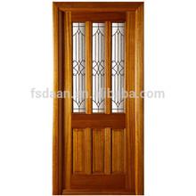 Pratical glass interior single door solid oak