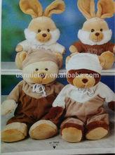 plush toy sitting rabbit factory price