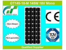 GT145-18-M 145W 18V solar panels in Brazil
