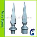 Aluminum die casting 16& 19 mm de alumínio alumínio lança cerca, ponta de lança, finial