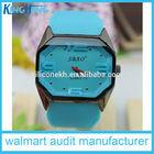 big dial silicone wrist quartz boy watch