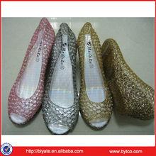 2014 Wholesale New Design High Heel Jelly Sandals