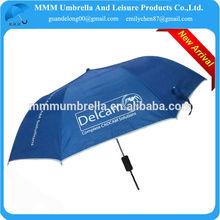 2014 promotional auto 2 foldable umbrella curved handle