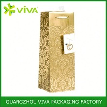 100% Recycled paper gift personalized fabric wine bags