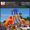 Highest inflatable big water slide with orange for tourist