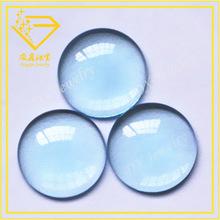 wholesale blue stone cabochon flat back clear glass gemstone fake gemstones price of rough aquamarine