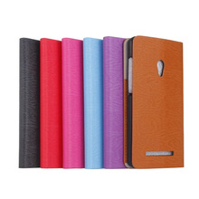 Leather Flip Wallet card slots Wood Grain Pattern Stand Case Cover Skin for ASUS ZenFone 5
