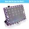 Ultra Slim Shockproof Wave Power Nap Soft PU Leather Flip Case For iPad5 U1708-57