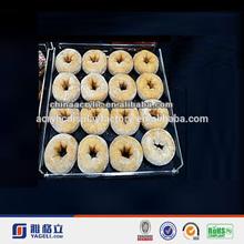 Yageli high quality clear acrylic cake display/ cake stand / acrylic food stand