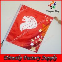 Flag Factory Wholesale custom satin Lion Singapore Flag