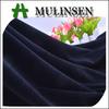 Mulinsen Textile Polyester Spandex Knit Soft Plain Velvet Black Velveteen Fabric