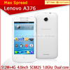 4 inch SC8825 1.0GHz dual Core mobile phone original Lenovo A376 china brand name mobile phone