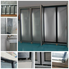 Self-closing system cold storage freezer insulating glass doors exporting