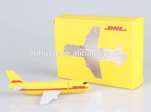Wholesale DHL plane USB 2GB4GB8GB16GB from shenzhen factory custom solution for PVC air plane USB flash drive