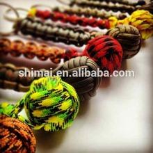 Monkey Fist & Brass Shackle Key Chain for Boat, House Nautical & Marine