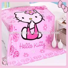 Hello kitty printting children coral fleece blanket