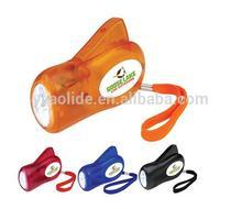 3 LED hand press flashlight ,hand press light