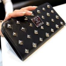 BV1069 2014 new European and American retro punk rivets style purse women handbag clutch wallet wholesale lady hand bag