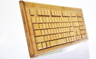 Lovely HandMade Bamboo Wood Keyboard Natural Eco-Friendly for PC, Laptop