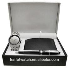 2014 years perfect design pen,wallet gift set watch for men men watch gift set