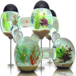 fashion design clear acrylic globular aquarium fish tank hot selling