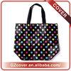 Fashion pattern dot waterproof waxed canvas tote bag customizable