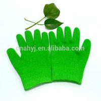 2015 new moisturizing cotton gel hand carved wooden mask spa gloves