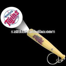 led logo projector baseball keychain ,custom logo baseball keychain , promotional led baseball keychain