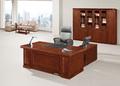O mais recente em forma de l folheado de madeira executivo tabela, escritório mdf tabela, mesa de escritório