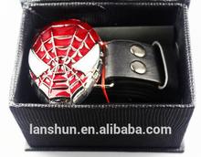 Hot Movie Spider-man Logo Fashion Belts Waistband Cosplay White Eyes New in Box
