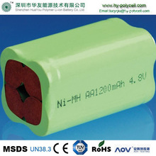 ni-mh rechargeable battery AA 4.8v 1200mah/battery packs 4.8v nimh