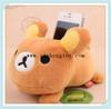 factory custom fashion plush bear phone holder